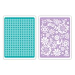 Sizzix - Textured Impressions - Embossing Folders - Sweet Dots and Florals Set
