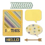 Sizzix - Jillibean Soup - Thinlits Die - I Heart This