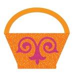 Sizzix - Fabi - Bigz L Die - Quilting - Basket, Flower