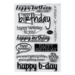 Sizzix - Clear Acrylic Stamps - Birthday