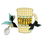 Sizzix - Vintage Kitchen Collection - Bigz Die - Mug and Spoon