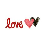 Sizzix - Homegrown and Handmade Collection - Originals Die - Phrase, Love 3