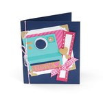 Sizzix - Life Made Simple Collection - Thinlits Die - Card, Instant Camera