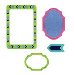 Sizzix - Life Made Simple Collection - Thinlits Die - Frames, Decorative