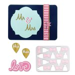 Sizzix - Life Made Simple Collection - Thinlits Die - His and Hers