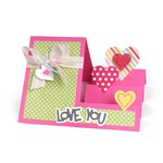 Sizzix - Framelits Die - Card, Hearts Step-Ups