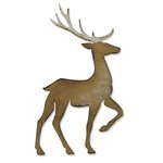 Sizzix - Tim Holtz - Alterations Collection - Christmas - Bigz Die - Prancing Deer