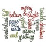 Sizzix - Tim Holtz - Alterations Collection - Christmas - Thinlits Die - Holiday Words - Script