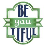 Sizzix - Me and You Collection - Thinlits Die - Phrase, Be-you-tiful