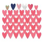 Sizzix - Me and You Collection - Thinlits Die - Card Front, Hearts with Layering Shapes