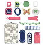 Sizzix - Me and You Collection - Thinlits Die - Fancy Base with Layering Shapes