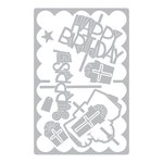Sizzix - Framelits Die - Card, Scallop with Gifts Drop-ins