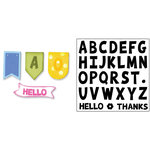 Sizzix - Framelits Die with Clear Acrylic Stamp Set - Alphabet Banners