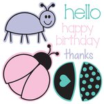 Sizzix - Framelits Die and Clear Acrylic Stamp Set - Bugs