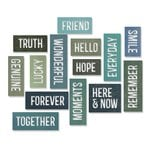 Sizzix - Tim Holtz - Alterations Collection - Thinlits Die - Friendship Words - Block