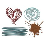 Sizzix - Tim Holtz - Alterations Collection - Thinlits Die - Scribbles and Splat