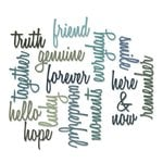 Sizzix - Tim Holtz - Alterations Collection - Thinlits Die - Friendship Words - Script