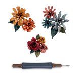 Sizzix - Tim Holtz - Alterations Collection - Thinlits Die - Tiny Tattered Florals