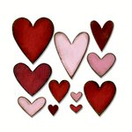 Sizzix - Tim Holtz - Alterations Collection - Bigz Die - Heartfelt