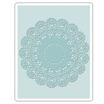 Sizzix - Tim Holtz - Alterations Collection - Texture Fades - Embossing Folder - Doily