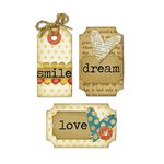 Sizzix - Homegrown and Handmade Collection - Framelits Die and Clear Acrylic Stamp Set - Tags and Words
