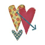Sizzix - Homegrown and Handmade Collection - Originals Die - Hearts 3