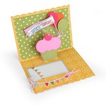 Sizzix - Thinlits Die - Card, Birthday Pop-Up