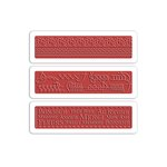 Sizzix - French General Collection - Textured Impressions- Embossing Folders - French Words, Lace and Stitches Set