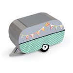 Sizzix - Vintage Travel Collection - ScoreBoards XL Die - Travel Trailer, 3-D