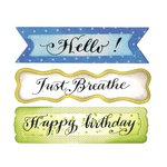 Sizzix - Framelits Die with Clear Acrylic Stamp Set - Banners