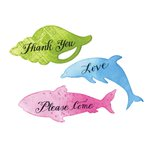 Sizzix - Framelits Die with Clear Acrylic Stamp Set - Sea Animal Sentiments