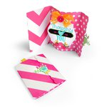 Sizzix - Hello Love Collection - Thinlits Die - Card, Ornate Label Fold-a-Long