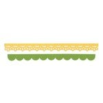 Sizzix - Doodlebug - Sizzlits Decorative Strip Die - Eyelet Lace and Scallops