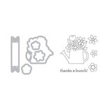 Sizzix - Doodlebug - Framelits Die with Clear Acrylic Stamp Set - Thanks a Bunch