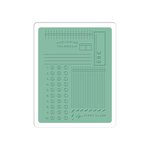 Sizzix - Jillibean Soup - Textured Impressions - Embossing Folder - Postage, Telegram