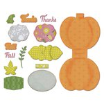Sizzix - A Bright Harvest Collection - Thinlits Die - Card, Harvest Pumpkin