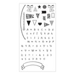 Sizzix - Clear Acrylic Stamps - Banners and Alphabet