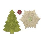 Sizzix - Winter Wishes Collection - Christmas - Bigz Die - Christmas Tree and Snowflake