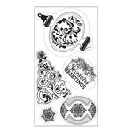 Sizzix - Winter Wishes Collection - Christmas - Interchangeable Clear Acrylic Stamps - Christmas Greetings, Ornament and Tree