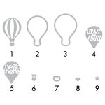 Sizzix - Triplits Die - Hot Air Balloons