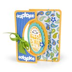 Sizzix - Framelits Die - Card, Scallop Oval Flip-its