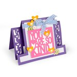 Sizzix - Framelits Die - Card, Kind Sentiments Step-Ups