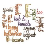 Sizzix - Tim Holtz - Alterations Collection - Halloween - Thinlits Die - Halloween Words - Script