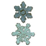 Sizzix - Tim Holtz - Alterations Collection - Christmas - Bigz Die - Snowflake Duo