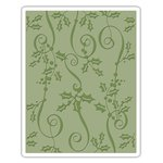 Sizzix - Tim Holtz - Alterations Collection - Christmas - Texture Fades - Embossing Folder - Holly Ribbon