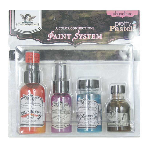 Tattered Angels - Pink Paislee - The Paint System - Pretty Pastels
