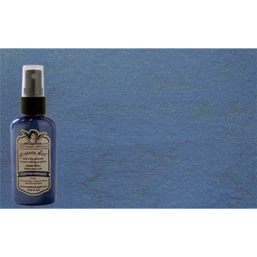 Tattered Angels - Christmas - Glimmer Mist Spray - 2 Ounce Bottle - Icicle Blue
