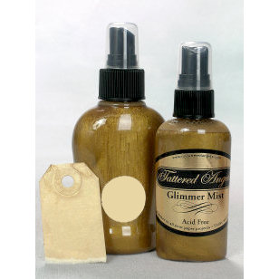 Tattered Angels - Glimmer Mist Spray - 2 Ounce Bottle - Walnut Gold, CLEARANCE