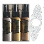 Tattered Angels - The Creme Collection - Glimmer Mist and Stencil Kit, CLEARANCE