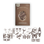 Tattered Angels - Creme de Cocoa Glimmer Chips - Self Adhesive Chipboard Ornaments - Nature